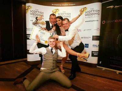 Food Creations team with award