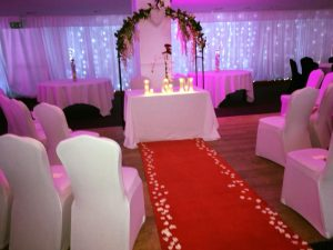 Wedding aisle at the almondvale suite