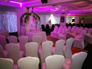 Wedding set up at the almondvale suite