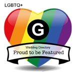 Supporting Same Sex Marriage - Proud to be festured in the G Wedding Directory